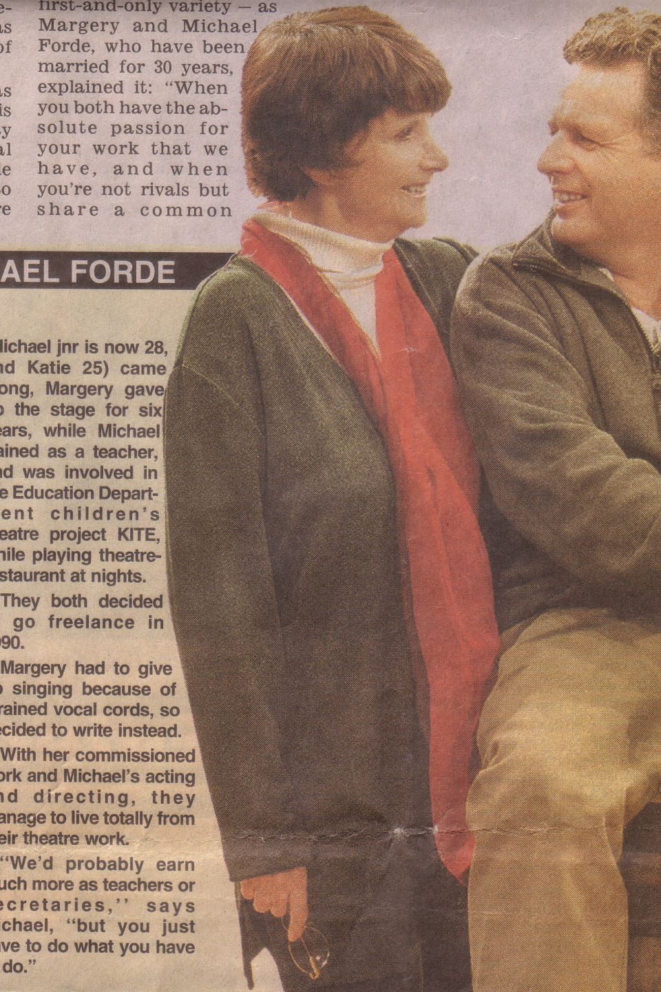 Margery and Michael Forde, The Courier Mail 2000.